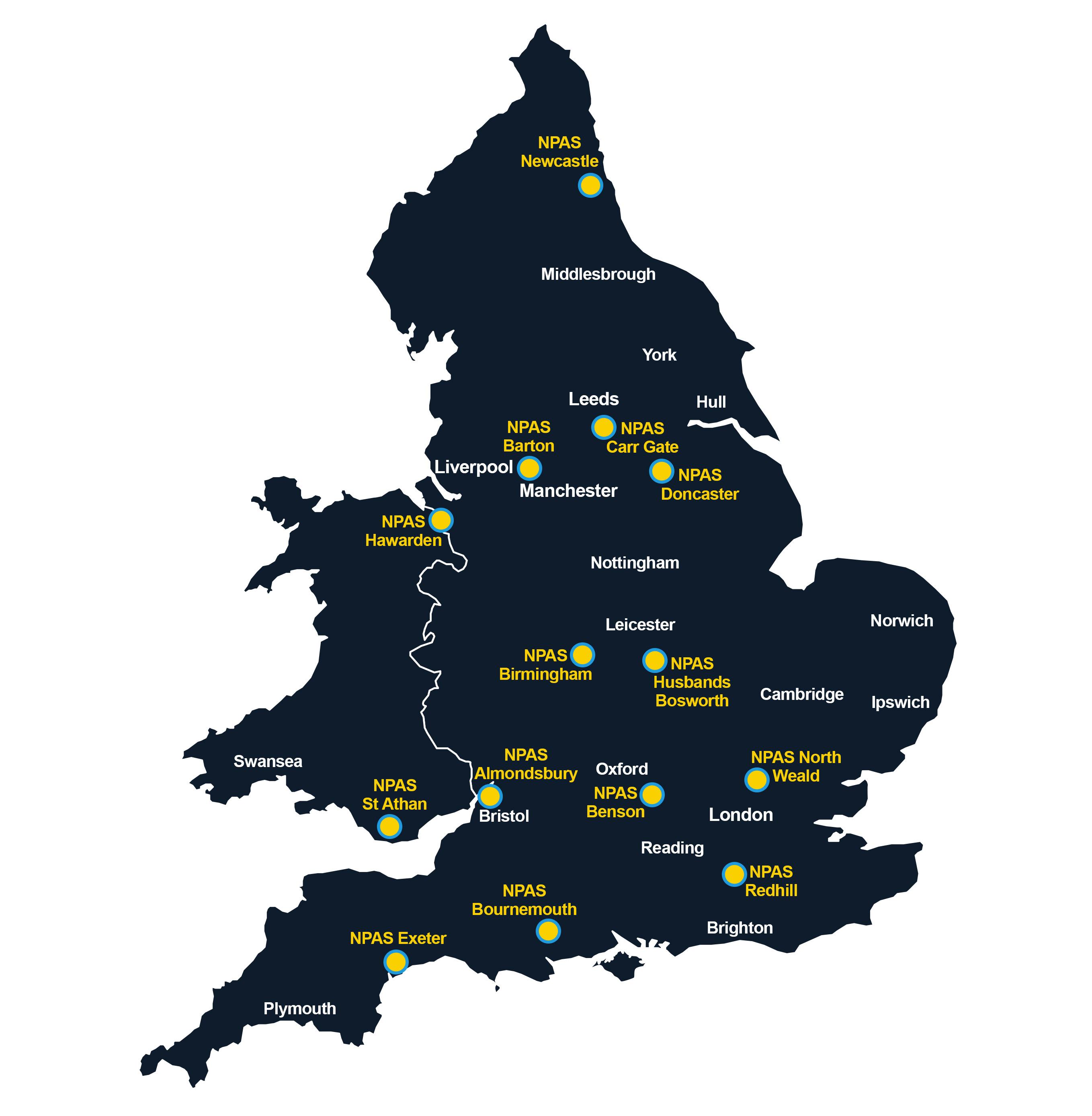 NPAS Bases Map